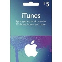 Apple iTunes Gift Card Digital Code USD $ 5 FOR US ACCOUNTS ONLY