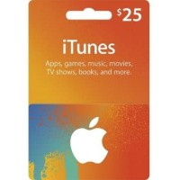 Apple iTunes Gift Card Digital Code USD $ 25 FOR US ACCOUNTS ONLY