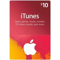 Apple iTunes Gift Card Digital Code USD $ 10 FOR US ACCOUNTS ONLY