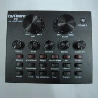 Mixer V8 Soundcard External Audio Live Broadcast - Hitam