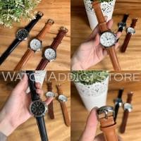Jam tangan wanita cewek fossil chronograph diamond look tali kulit