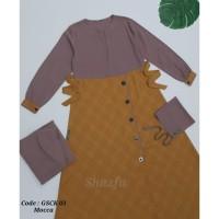 Gamis Set Cadar Kombinasi 03 GSCK 03 Shazfa