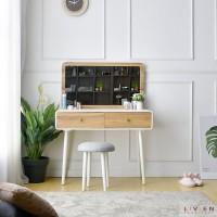 Meja Rias Minimalis Cermin Kotak Simple Livien Murah cantik terbaru