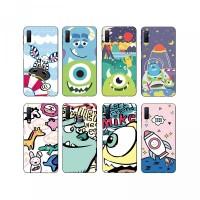AY- Casing Soft Case Bahan TPU Motif Kartun Monster untuk Samsung Gala