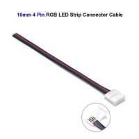 Konektor Klip LED Strip RGB SMD 5050 5730 10mm 4 Pin Kabel 15cm RGB