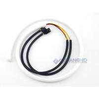 LED DRL Flexible 60CM Lampu Alis Mobil 2 Warna 2 Mode Running Sein Sen