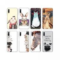 AY- Casing Soft Case TPU Motif Kartun Kelinci untuk Samsung Galaxy A7