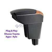 Armrest Mobil Khusus Toyota Agya Ayla 7 USB Port Charger + LED