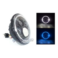 """Lampu Projector LED HiLo Daymaker Angel Eyes 7"""" 35W 3880LM Jeep Harley"""