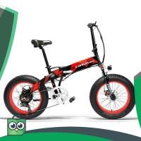 Lankeleisi Sepeda Elektrik Lipat Smart Moped 48V 10AH 1000W X2000