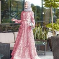 Gamis Maxi / Baju Dress Wanita Muslim Amara Tile Mutiara Good Quality