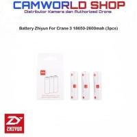 Battery Zhiyun For Crane 3 Stabilizer 18650-2600mah (3pcs)