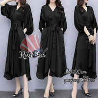 dress midi polos wanita kimono korea xxl xxxl 3xl 3L jumbo bigsize