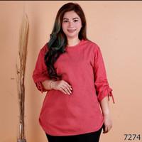 blouse jumbo bigsize atasan polos wanita bluss xxl xxxl 3xl 2xl