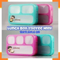 Wadah Saji 1706 Lunch Box Yooyee MINI 3 & 4 grids Leakproof Kotak