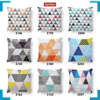 Bantal Sofa 1760 TIPIDEE Sarung Bantal Sofa 40x40, Motif TRIANGLE