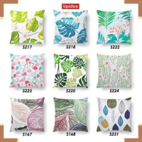 Bantal Sofa 1676 TIPIDEE Sarung Bantal Sofa 40x40 Motif TROPICAL