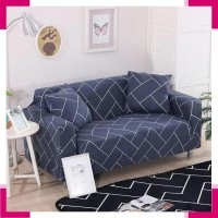 Sarung Furnitur 1764 COVER SOFA SEATER stretch elastis Navy Rectangle