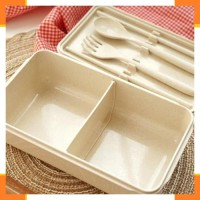 Wadah Saji 1692 WHEAT STRAW LUNCH BOX Ruang Makan Wadah Saji WHEAT