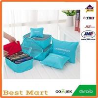 Tas Koper secret pouch 6 in1 tas Travel Packing Cubes Bag Organizer