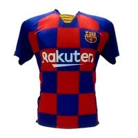 kaos jersey sevenstars tanggung barcelona merah
