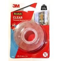 Double Tape Scotch Clear Permanet Mounting Tape 3M 4010C 21mmx2m