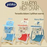 High Chair Pliko HC 563 Bamboo Meja Makan Bayi