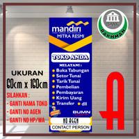 Jual Spanduk Banner Agen Mandiri Online Ukuran 60cm X 160cm Jakarta Barat Bank Rakhman Tokopedia