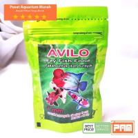 Pakan Untuk Ikan Burayak Diatas 5 cm Avilo Fry Fish Food 40 gr Hijau