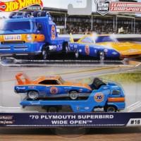Hot Wheels Team Transport 76 Plymouth Superbird Wide Open hotwheels