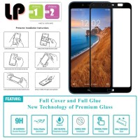 LP Full Glue Tempered Glass Xiaomi RedMi 7a - Kaca Original Bening