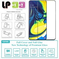 LP Full Glue Tempered Glass Samsung Galaxy A80 - Kaca Original Bening