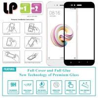 LP Full Glue Tempered Glass Xiaomi Mi A1 - Mi5X - Kaca Original Bening