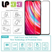 LP Full Glue Tempered Glass Xiaomi RedMi Note 8 Pro - Kaca Original
