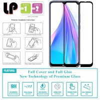 LP Full Glue Tempered Glass Xiaomi RedMi Note 8 - Kaca Original Bening