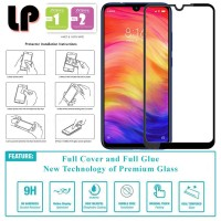LP Full Glue Tempered Glass Xiaomi RedMi Note 7 - Kaca Original Bening