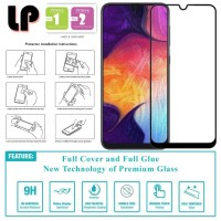 LP Full Glue Tempered Glass Samsung Galaxy A70 - Kaca Original Bening