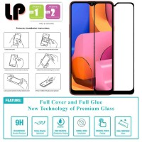 LP Full Glue Tempered Glass Samsung Galaxy A20s - Kaca Original Bening