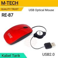 M-Tech Mouse Optical USB Kabel Tarik Mini RE-87