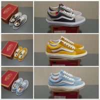 Sepatu Vans Oldskool Style 36 Light Blue / Sunflower / Dark Grey