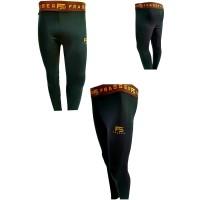 celana baselayer stretch panjang running legging olahraga gold