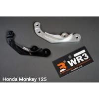 Breket Kaliper Depan Belakang WR3 Honda Monkey For Brembo 4 piston