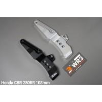 Breket Kaliper Depan WR3 Honda CBR 250 RR Monoblock 108mm Black Silver