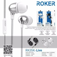 Headset Roker Live RK35K Earphone Handsfree Roker Original Garansi