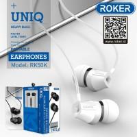 Headset Roker UNIQ RK50K Earphone Handsfree Roker Original Garansi