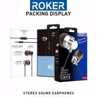 Headset Roker Onyx RK52K Earphone Handsfree Roker Original Garansi