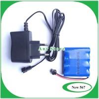Paket Baterai RC Dan Charger Socket Ni-cd AA 2100mAh 4.8V