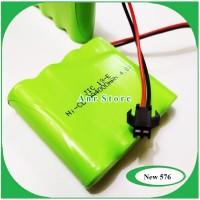 Baterai NiCd RC AA 4000mAh 4.8V Socket Hitam isi 4