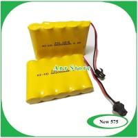 Baterai NiCd RC AA 2000mAh 6.0V Socket Hitam isi 5