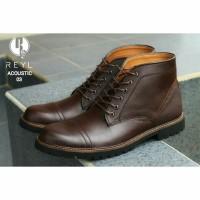 KULIT ASLI martens redwing safety sepatu boots pria VV-X147